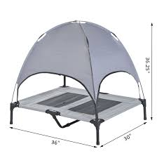 Dog Bed With Canopy Aosom Pawhut 36