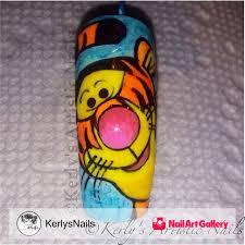 winnie pooh tiger nail art design kerlysnails nail