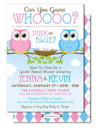 gender reveal baby shower owl gender reveal baby shower invitation guess who