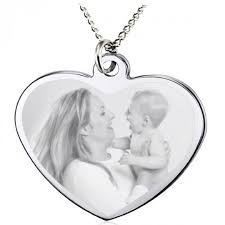 custom engraved heart necklace custom engraved heart picture pendant forallgifts