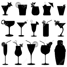 martini shaker clip art cocktail drink fruit juice silhouette royalty free cliparts