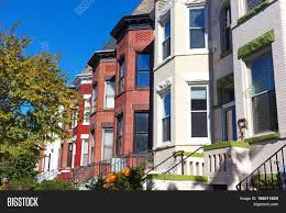 historic row houses washington dc image u0026 photo bigstock