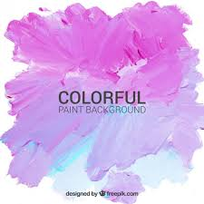 hand painted background in pink and blue color free vectors ui
