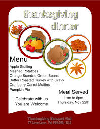 thanksgiving flyer templates thanksgiving flyer template for