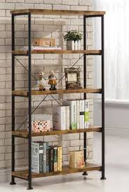 1 Shelf Bookcase Barritt Antique Nutmeg Wood Metal Bookcase For Purchase