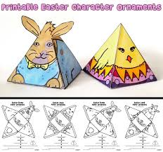 easter ornaments printable easter ornaments bunnies and woo jr