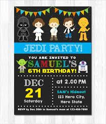 21 star wars birthday invitation template u2013 free sample example