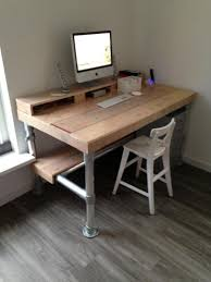 Build A Wooden Computer Desk by Tutorial On How To Create An Industrial Desk From Wood And Pipe