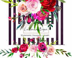 wedding flowers clipart watercolor floral clipart purple pink burgundy roses peonies