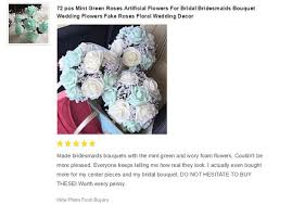 mint wedding flowers artificial roses for bridal bouquet