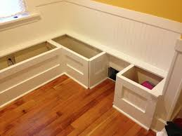 Build Storage Bench Plans by Diy Custom Kitchen Nook Storage Benches
