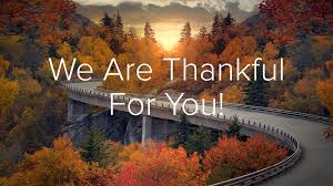 we are thankful for you spireon
