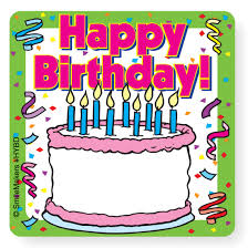 birthday stickers happy birthday your name stickers write on stickers from smilemakers