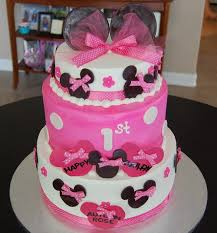 minnie mouse 1st birthday cake minnie mouse themed happy 1st birthday cake by bobb