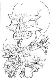sick easy tattoos of skulls outline pictures to pin on