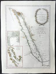 The Red Sea Map 1787 D Anville U0026 Niebuhr V Large Antique Map Of The Red Sea Suez