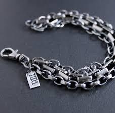 mens silver bracelet chain images Men 39 s heavy mixed chain silver bracelet lynn todd designs jpg