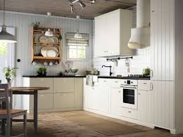charmingly modern ikea kitchen design ideas contemporary small kitchen design with l shaped white polished oak kitchen cabinet using black granite countertop