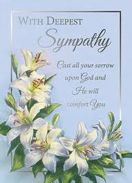 sympathy card of with deepest sympathy greeting card