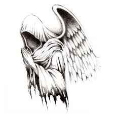angel tattoos for men grim reaper tattoos 2 in one package