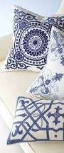 Living Room Pillows by Blue Circular Medallion Pillows Coastal Decor Living Room