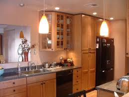 Galley Kitchen With Breakfast Bar Peaceably Galley Kitchen And Chrome Stools At Breakfast Bar In