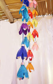 Chandelier Made From Plastic Bottles Recycled Plastic Bottle Flower Mobile Tutorial Creative Jewish Mom
