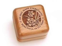 Engraved Music Box Ecclesiastes 3 11 Engraved Hinged Box Heartwood Creations