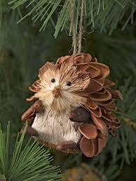 natural christmas ornaments hedgehogs set of 3 gardeners com