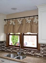 Diy Kitchen Curtain Attractive Easy Affordable Diy Kitchen Window Valances On Country