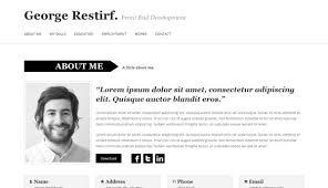 Corporate Resume Templates Html Resume Templates To Help You Land A Job Pixelpush Design