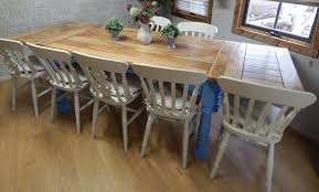 Rustic Farmhouse Dining Room Tables Adorable Large Rustic Farmhouse Oak Kitchen Dining Table Extending