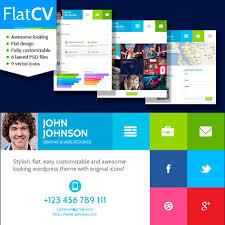Html5 Resume Flatcv U2013 Resume U0026 Portfolio U0026 Html5 Puzzles