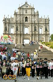 hong kong tourist bureau macau government tourist office holds a tray race to celebrate the