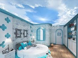 chambre ciel papel de parede personnalisation 3d grandes murales enfants chambre