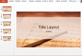 free music sheet powerpoint template