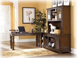 the porter home office furniture set comes with a large desk