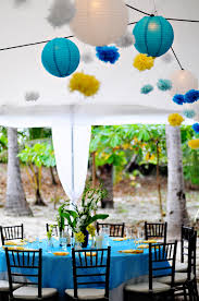 decor blue and yellow wedding decoration ideas tv above pantry