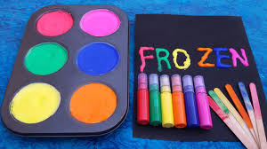 Weird Paint Color Names How To Make Frozen Paint For Kids Colors For Children To Learn