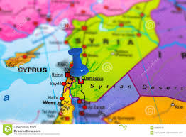 Syria Map by Damascus Syria Map Stock Photo Image 82628730