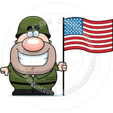 Soldier With Flag Cartoon Soldier With Flag By Cory Thoman Toon Vectors Eps 8007