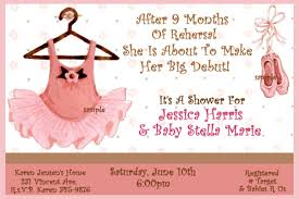 Babyshower Invitation Card Ballerina Baby Shower Invitations Theruntime Com