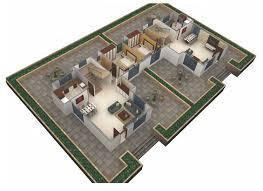 Bungalow Ground Floor Plan by Coral Gardens Twin Bungalow Scheme