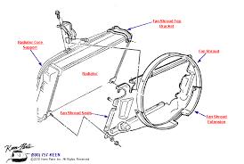 1972 corvette radiator keen corvette parts diagrams