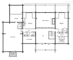 log home floor plan south fork