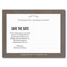 save the date postcard the knot save the date card rustic bark postcard