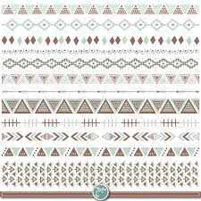 aztec ribbon aztec ribbon set aztec borders clipart aztec ribbon ethnic