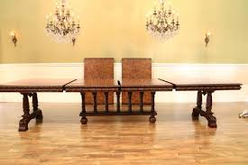extra large burl walnut extension table opens to 17ft victorian