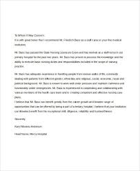brilliant ideas of nursing student recommendation letter example