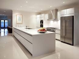 Modern Kitchen Decor Pictures Awesome Modern Island Kitchen Design Using Frosted Glass Home